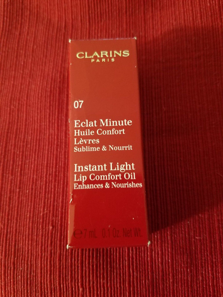 CLARINS Instant Light Lip Comfort Oil ❤️ 07 HONEY GLAM ❤️100% Authentic - I Have Cosmetics