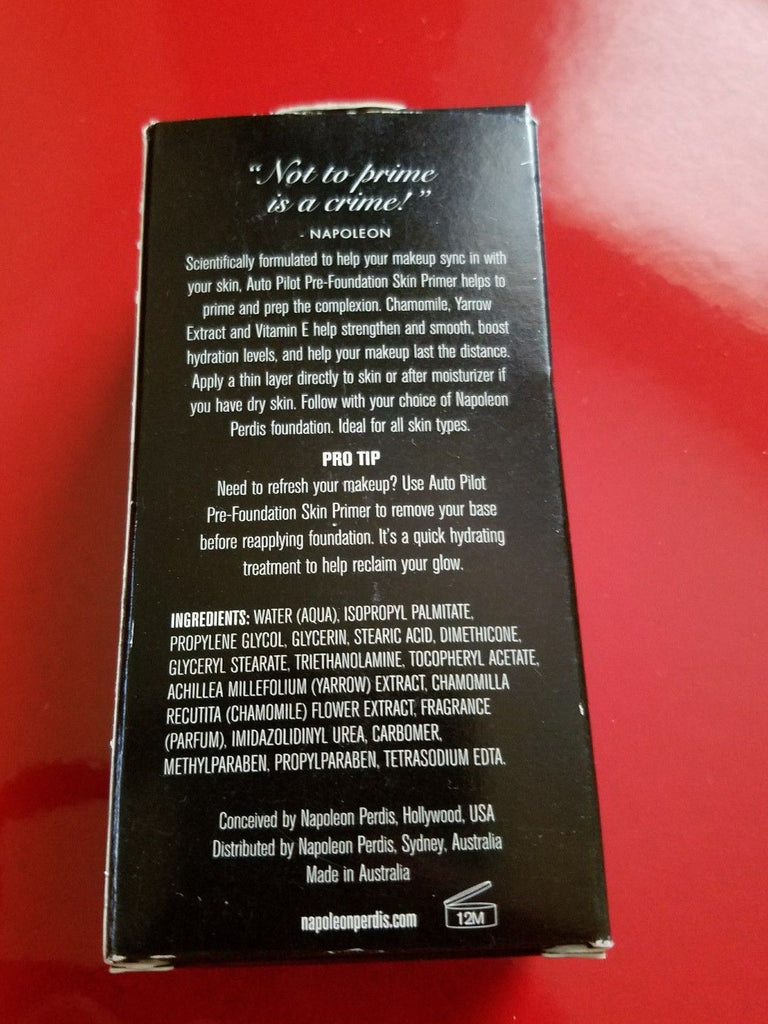 Napoleon Perdis Auto Pilot Pre-Foundation Skin Primer - Brand New in Box - I Have Cosmetics