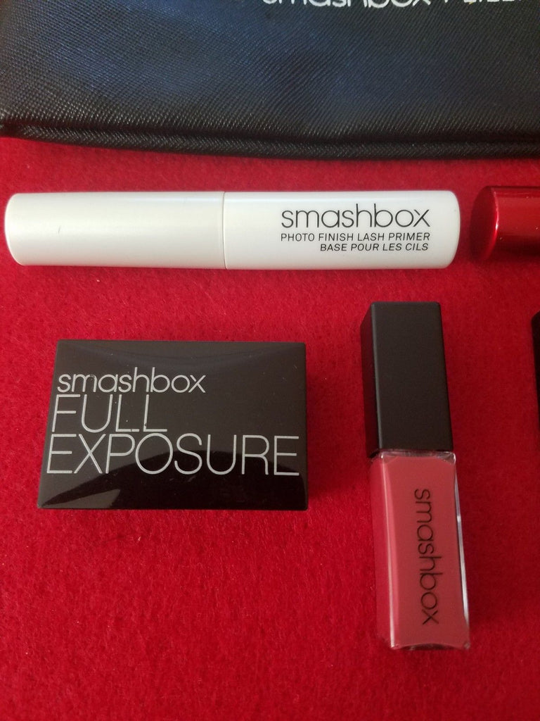 Smashbox And Lilly Singh BAWSE Makeup Bag w/ 6 Samples Travel Sized ❤️ Authentic - I Have Cosmetics