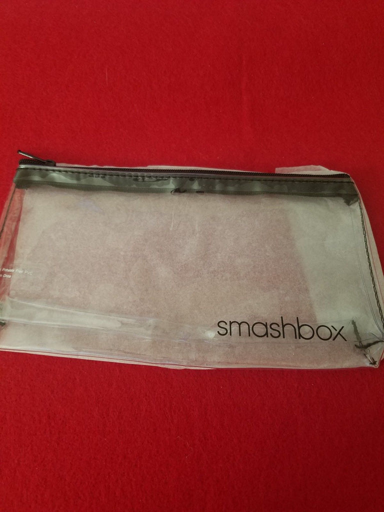 Smashbox Clear Zipper Makeup / Cosmetics Travel Bag w/ Samples ❤️ Authentic - I Have Cosmetics