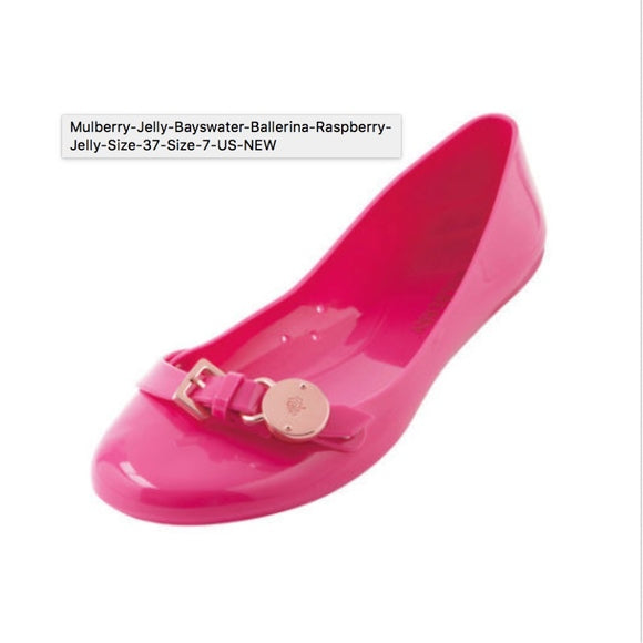 Mulberry Jelly Bayswater Ballerina Raspberry Jelly Size 37 ~ Size 7 US ~ NEW - I Have Cosmetics
