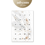 Adventskalender Sticker - Golden White