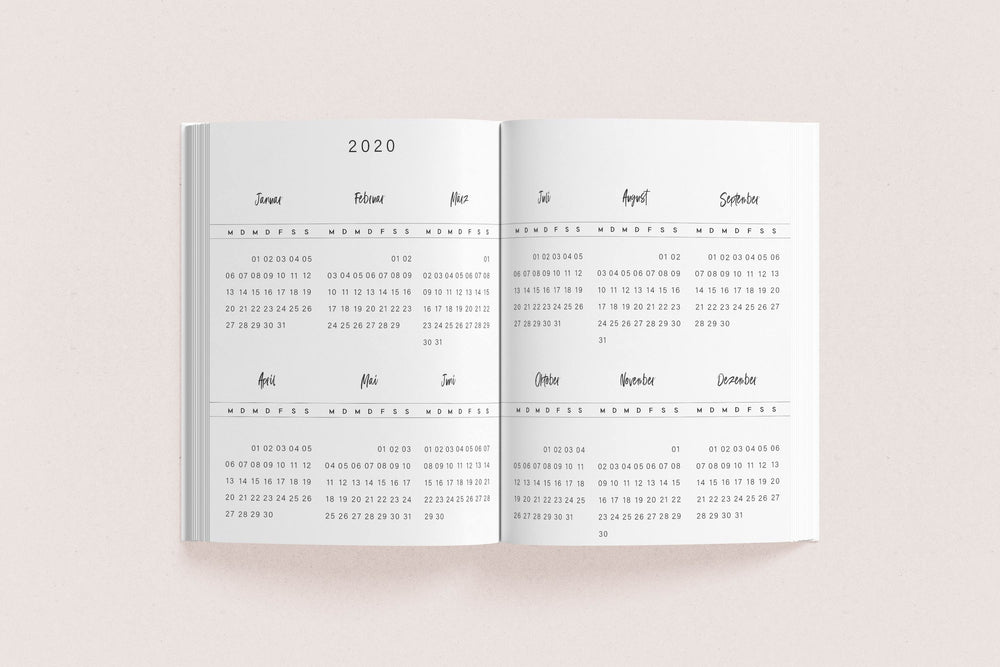 "Daily Kalender A5 ""Blue Stone"" 2020"