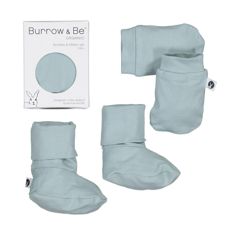 Burrow & Be Accessory Socks Mist Essential Booties & Mittens Set