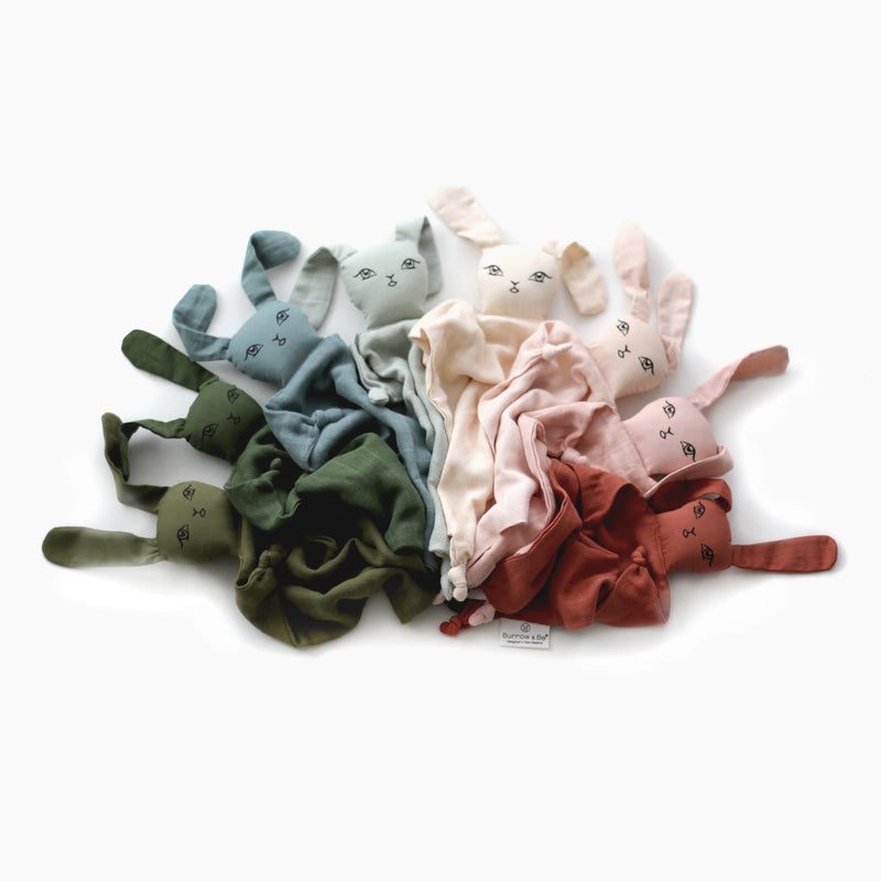 Muslin Bunny Comforter ( New Colours) - Parnell Baby Boutique