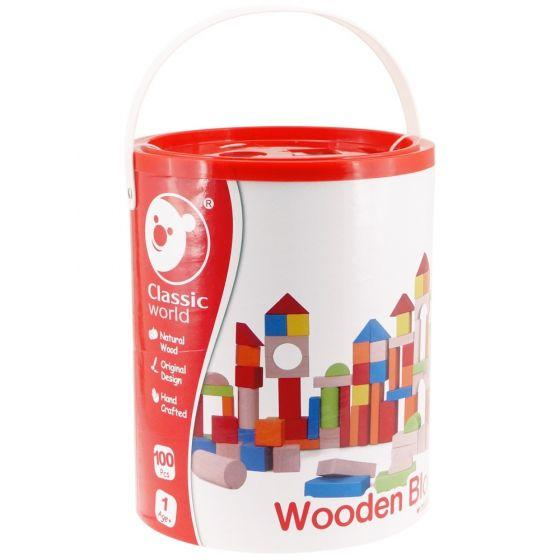 100Pc Wooden Blocks - Barrel - Parnell Baby Boutique