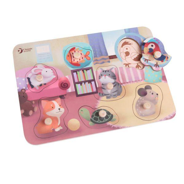 Wooden Peg Pet Puzzles - Parnell Baby Boutique