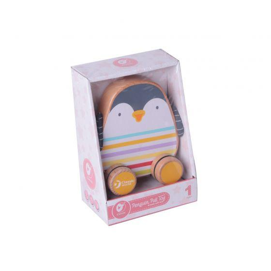 Penguin Pull Toy - Parnell Baby Boutique