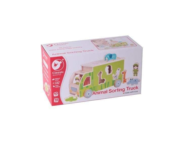 Wooden Animal Sorting Truck - Parnell Baby Boutique