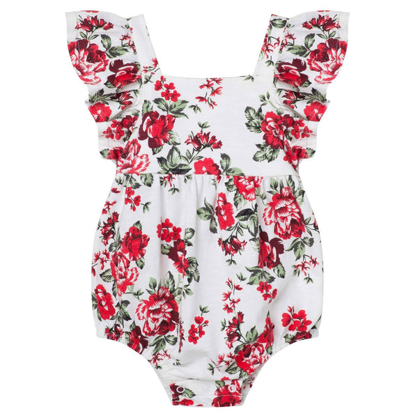 Pearl Floral Luna Romper - Parnell Baby Boutique