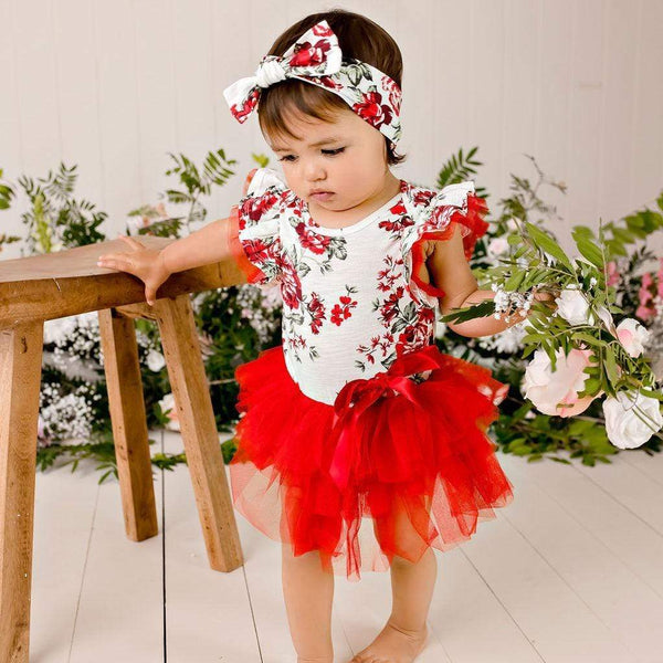 Pearl Floral Tutu Romper - Parnell Baby Boutique