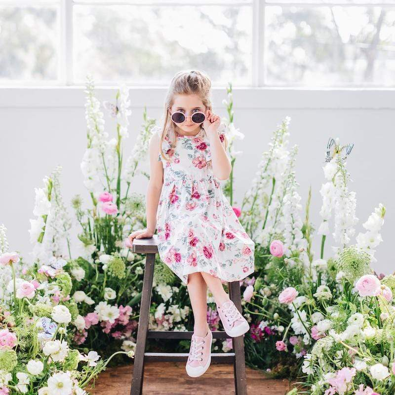 Audrey Floral Short Sleeve Hazel Dress - Parnell Baby Boutique
