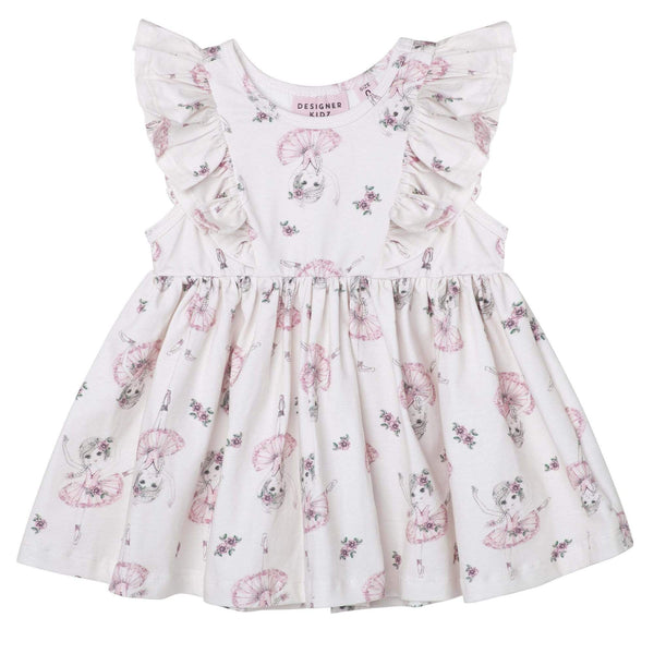 Ballerina Truffle S/S Hazel Dress - Parnell Baby Boutique