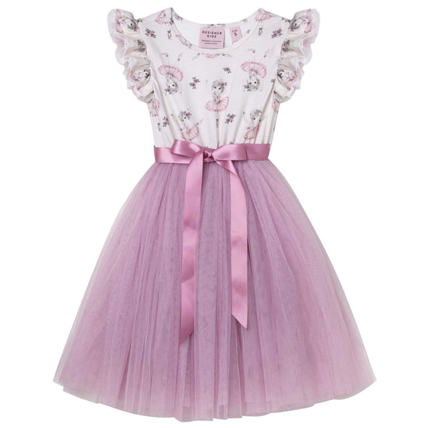 Ballerina Truffle S/S Tutu Dress - Parnell Baby Boutique