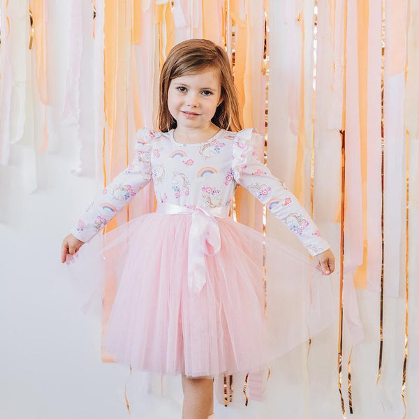 Enchanted Unicorn L/S Tutu Dress