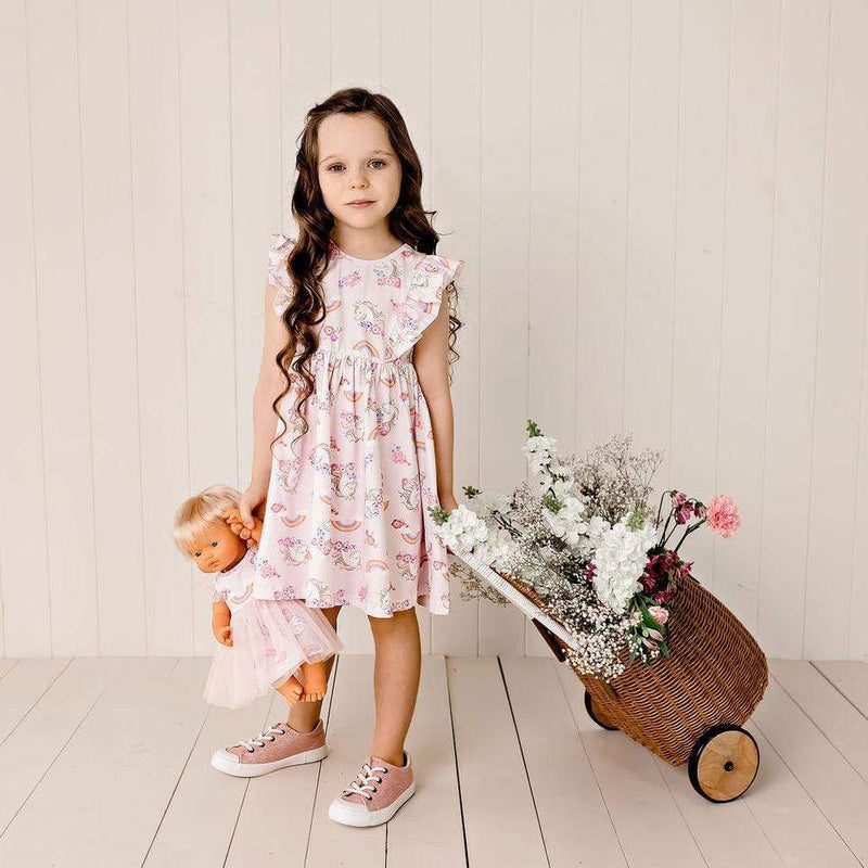 Enchanted Unicorn S/S Hazel Dress - Parnell Baby Boutique