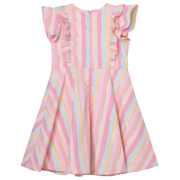 Frill Sleeve Lined Dress - Parnell Baby Boutique