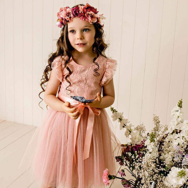 Libby Lace S/S Tutu Dress - Parnell Baby Boutique