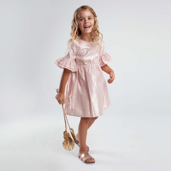 Lined  Lurex Dress - Parnell Baby Boutique