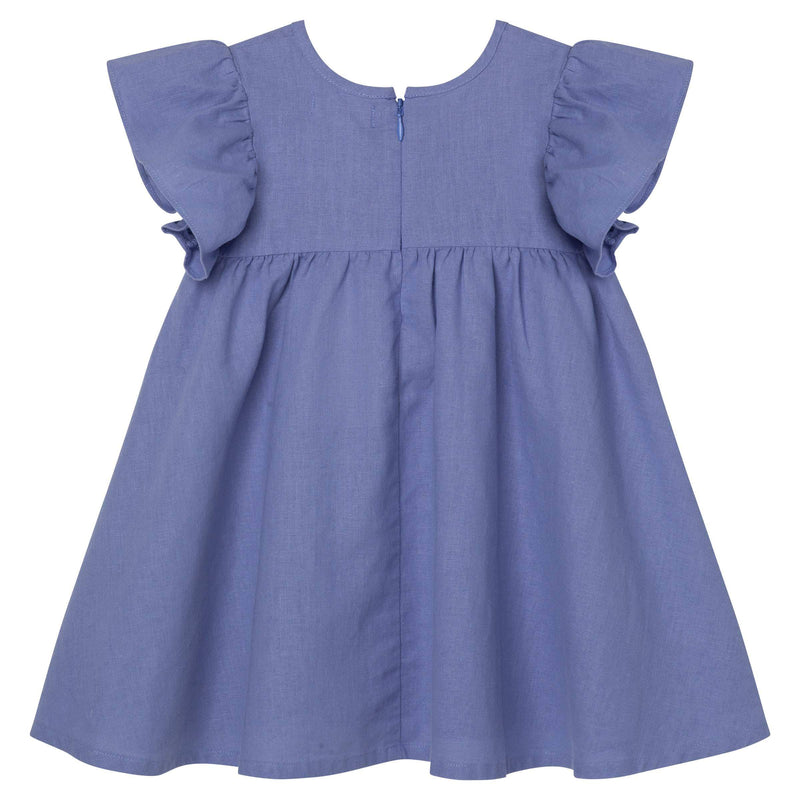 Linen Seaside Frill Sleeve Dress - Parnell Baby Boutique