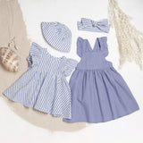 Linen Seaside Frill Sleeve Dress