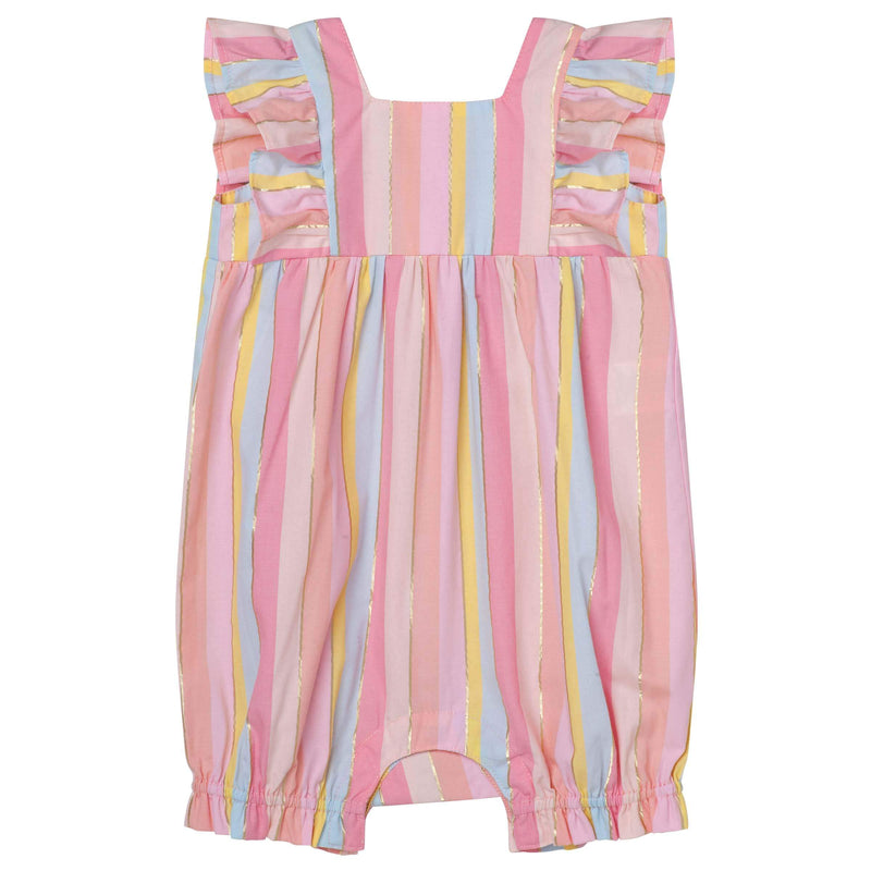 Lurex Party Frill Sleeve Romper - Parnell Baby Boutique