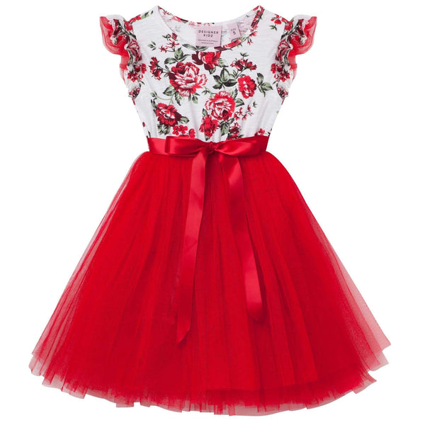 Pearl Floral Tutu Dress - Parnell Baby Boutique