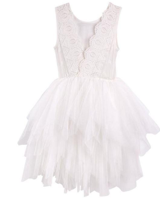 Sophie Lace Bodice Tutu Dress in Ivory - Parnell Baby Boutique