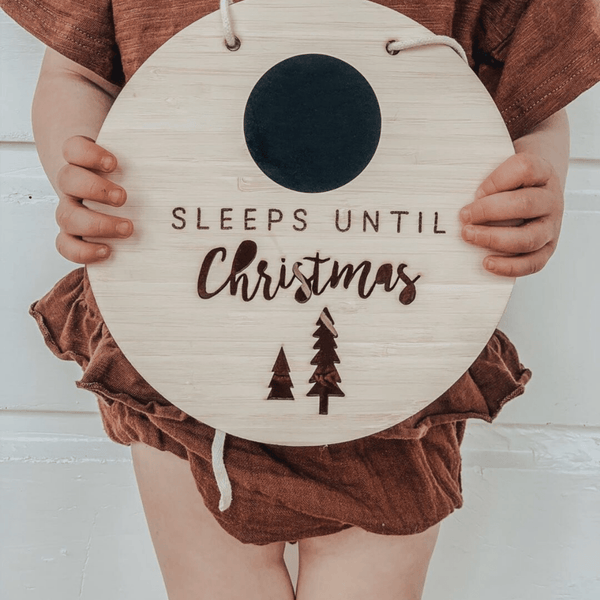 Sleeps till Christmas hanging sign - Parnell Baby Boutique