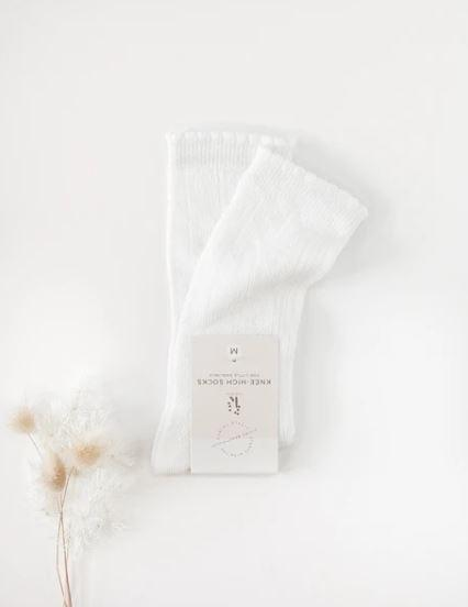 Sweet Love Pattern Mesh Knee High Socks - Parnell Baby Boutique