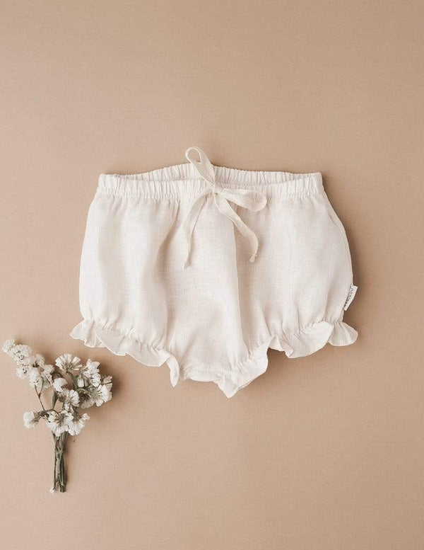 Ella Linen Bloomers - Cream - Parnell Baby Boutique