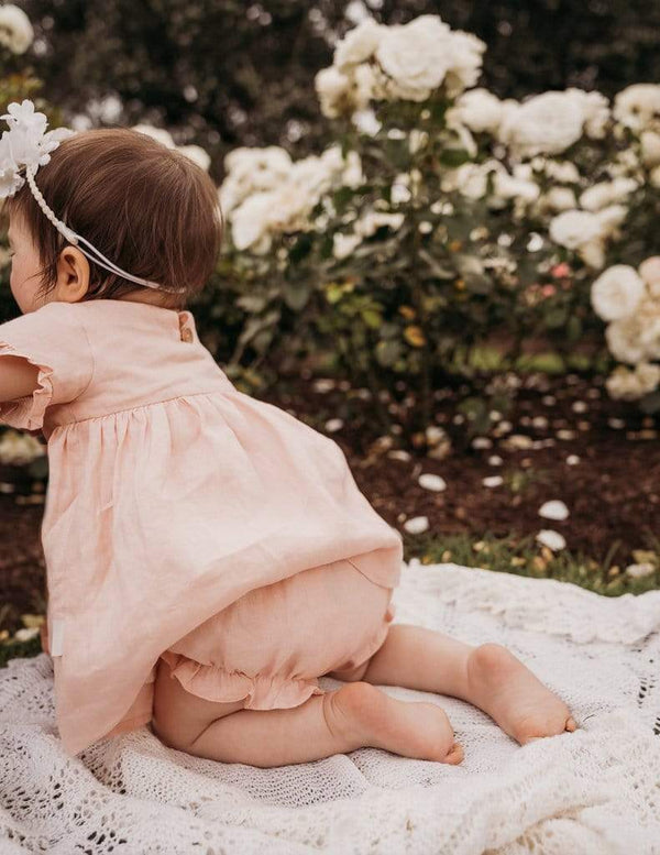 Ella Linen Bloomers - Marshmellow - Parnell Baby Boutique