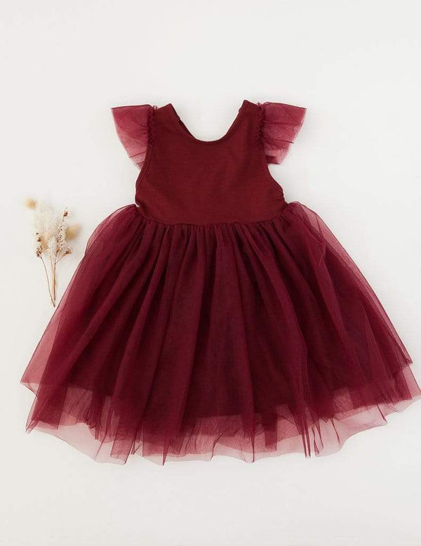 Karibou Kids Girls Dress Cherry Red / 1Y Scarlett Tutu Dress
