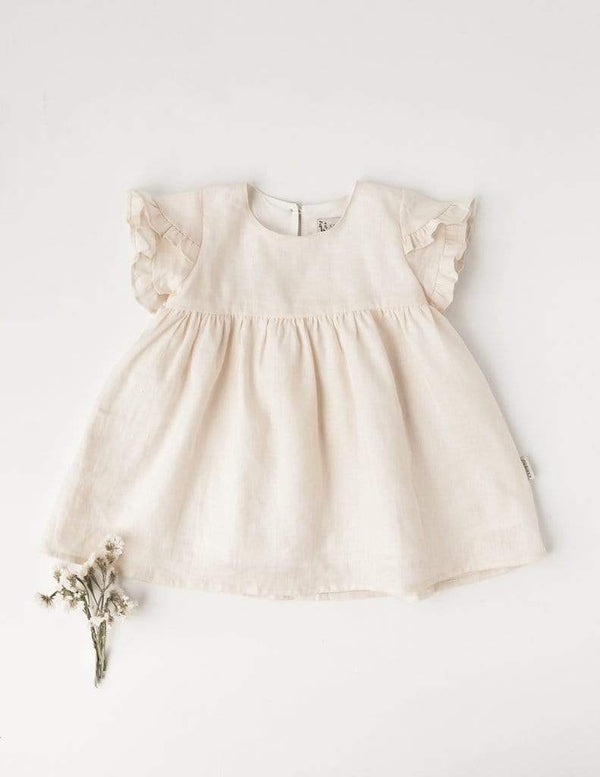 Ella Linen Dress - Cream - Parnell Baby Boutique