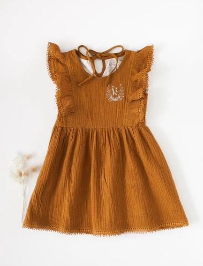 Little Angel Cotton and Lace Dress - Parnell Baby Boutique