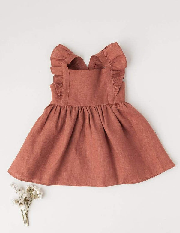My Little Sunshine Linen Dress - Parnell Baby Boutique