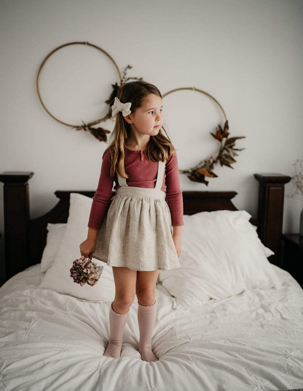 Karibou Coco 100% Linen Suspender Skirt - Parnell Baby Boutique
