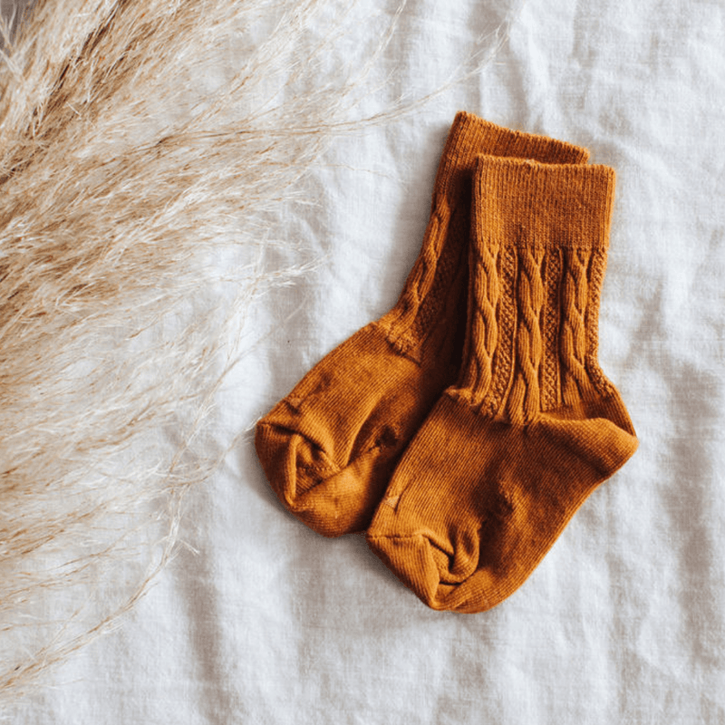 Lamington Mosey Cable Crew Socks - Parnell Baby Boutique