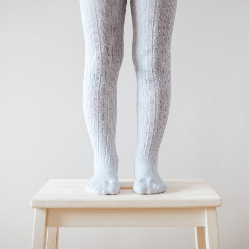 Lamington Merino Cable Tights Grey
