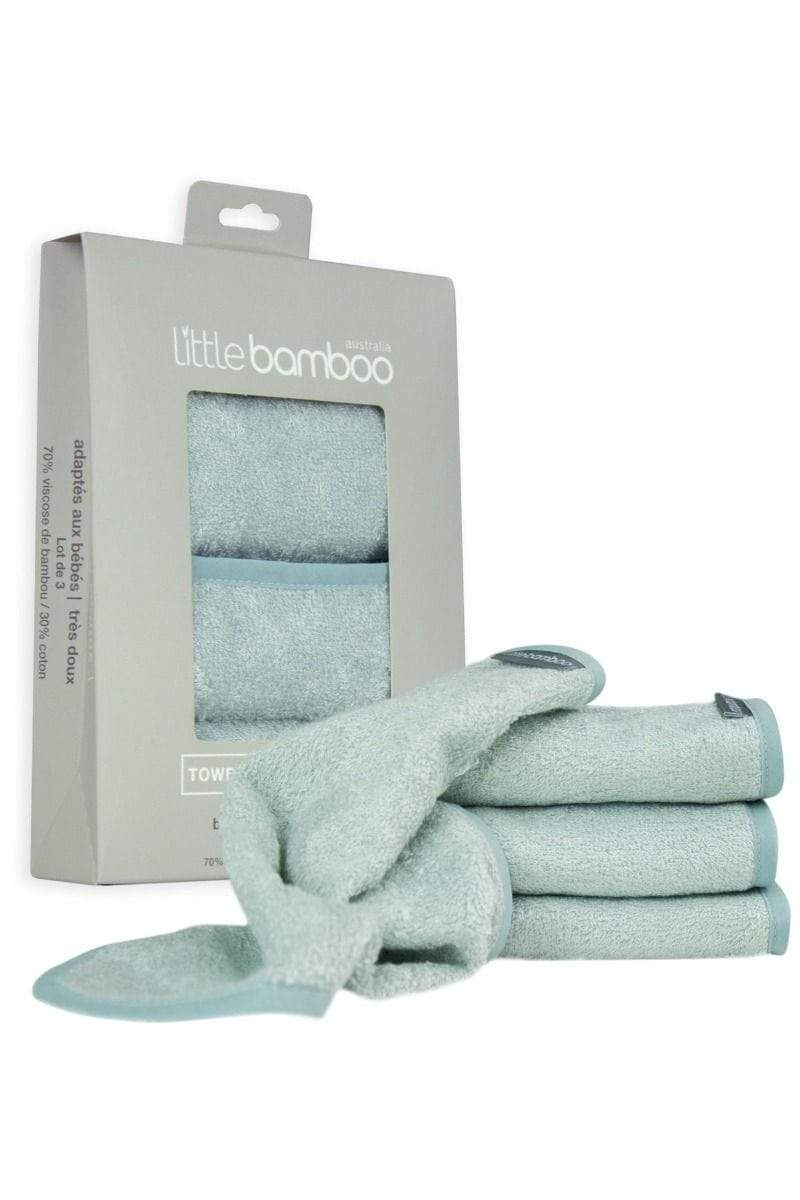 Little Bamboo Bath Little Bamboo Towelling Washers - Whisper