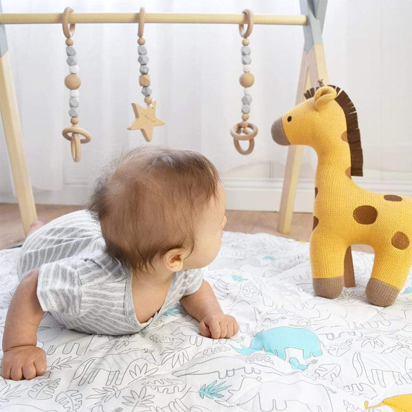Play Mat with Milestone Cards - Urban Safari - Parnell Baby Boutique