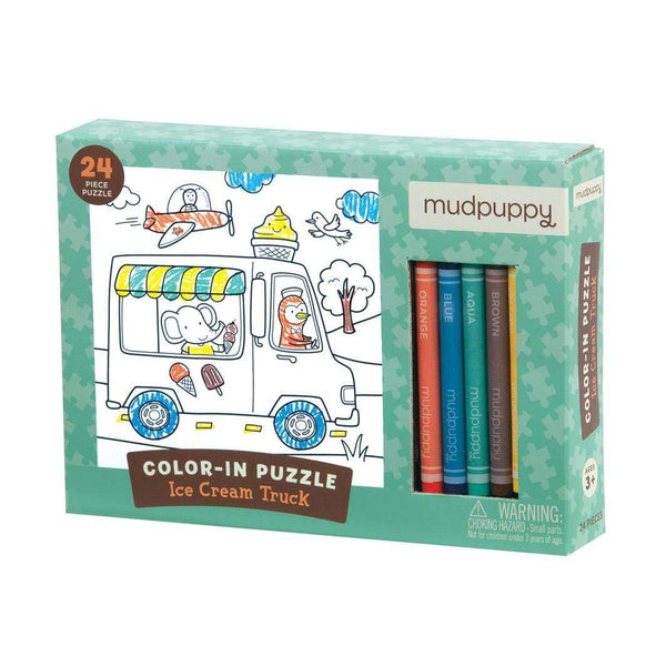 Ice Cream Truck Colour in Puzzle - Parnell Baby Boutique