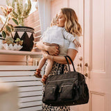 Carry All Black Diamond Quilt Nappy Bag - Parnell Baby Boutique
