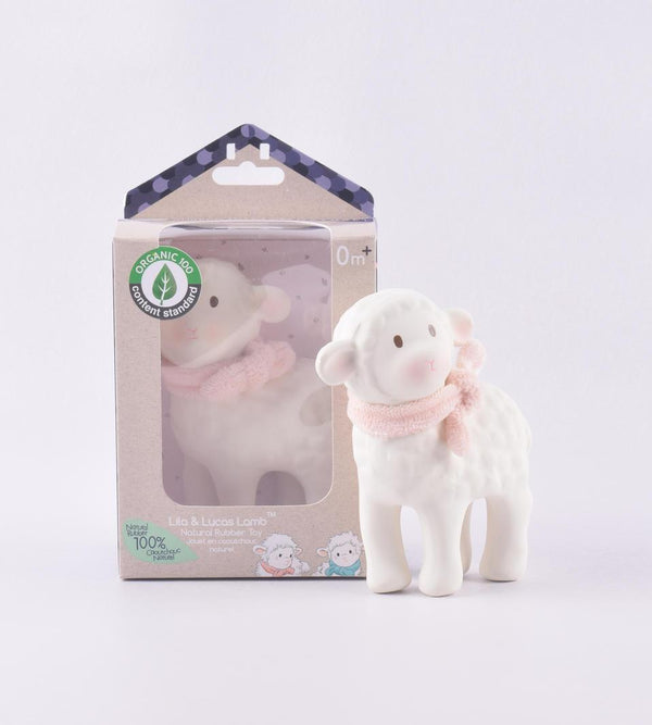 Organic Lamb Rubber Toy 12cm - Parnell Baby Boutique