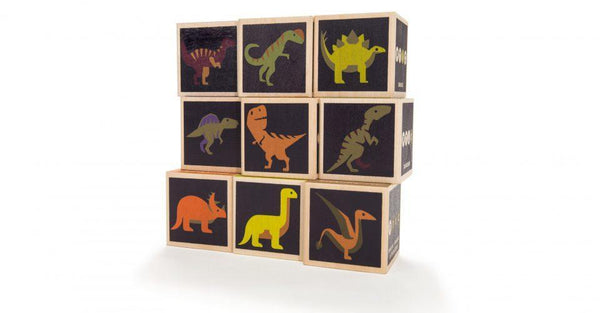 Dinosaur Wooden Building Blocks - Parnell Baby Boutique