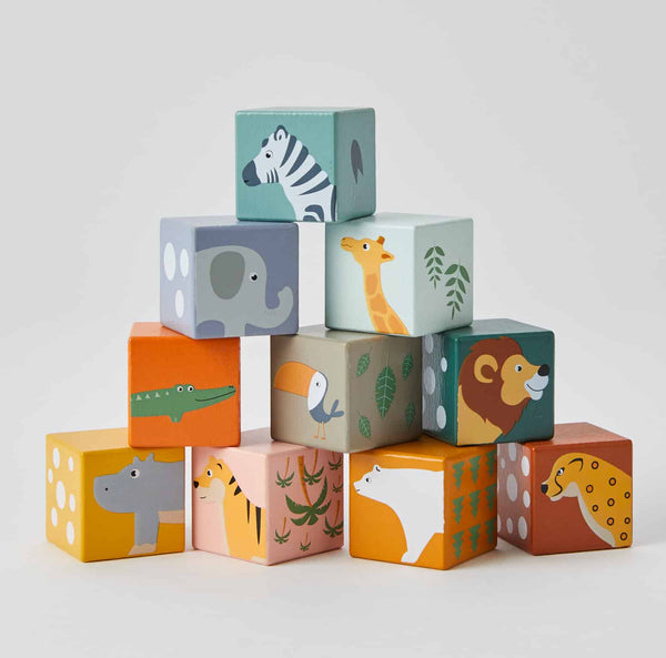 Wooden Animal Blocks - Parnell Baby Boutique