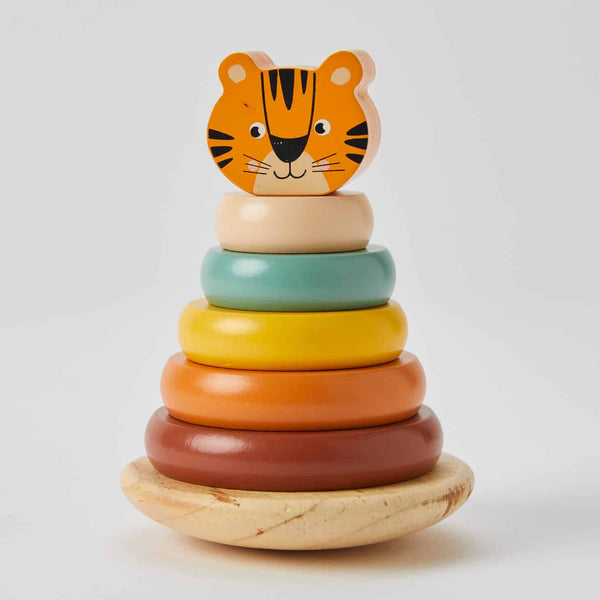 Wooden Tower Tiger Rings - Parnell Baby Boutique