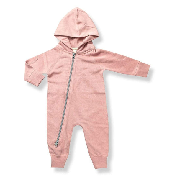 Sugar Plum Hooded Zipsuit - Parnell Baby Boutique