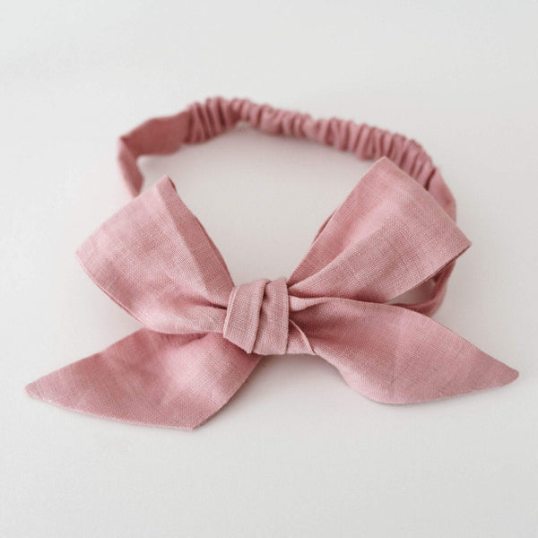 Snuggle Hunny Linen Pre Tied Headband - Parnell Baby Boutique