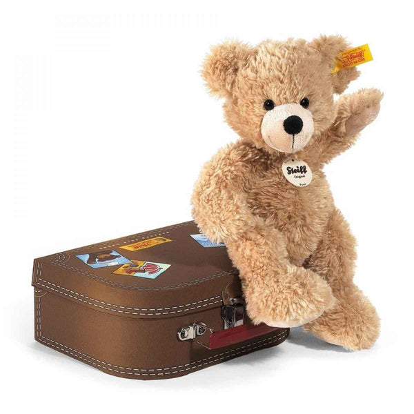 Collectible Steiff Teddy Bear in Suitcase - Parnell Baby Boutique